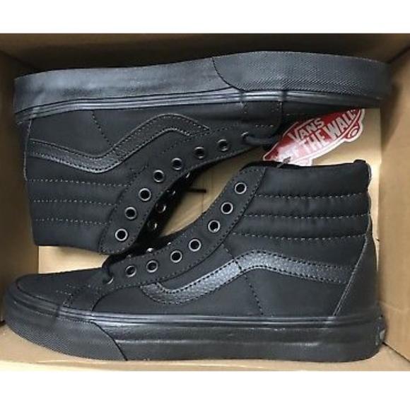 gloednieuw goedkoop kopen exclusief assortiment Vans Sk8 Hi Reissue Mono T&L Black Canvas Shoes